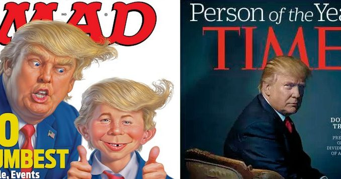 President Donald Trump Mad Magazine Time Magazine Man of Year
